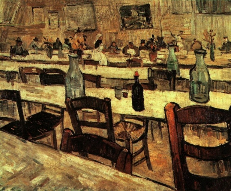 Interior of a Restaurant in Arles – Vincent van Gogh (1888)
