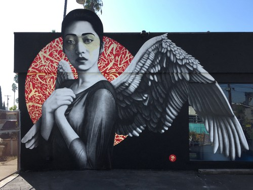 Street Art Orientalists Lizy Dastin Resurrection of Angels