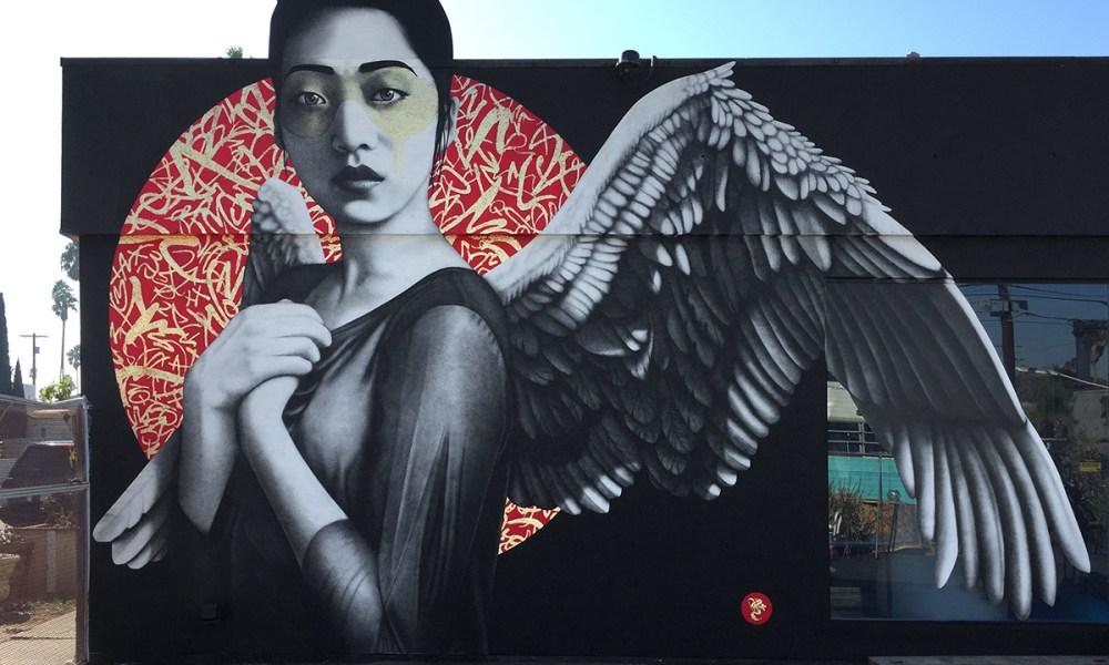 Street Art Orientalists Lizy Dastin Resurrection of Angels
