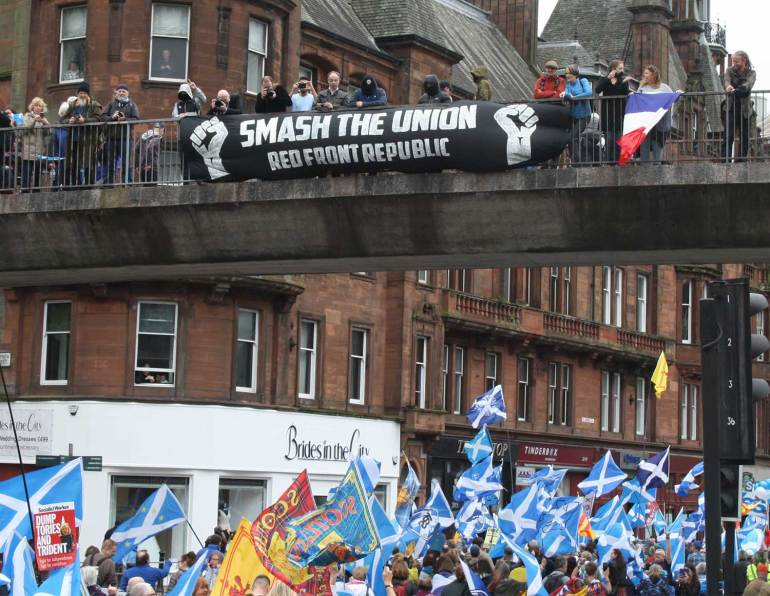 THINK- pro-independence march in Scotland in May 2018