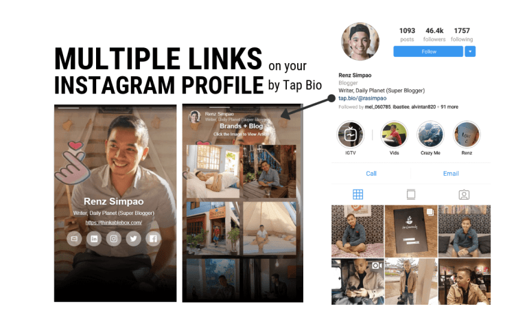 Multiple Links on your Instagram Profile by Tap Bio