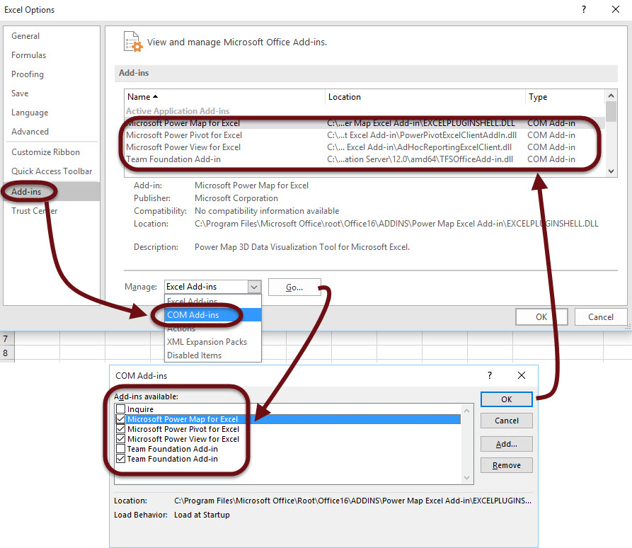 Where's Power BI in Excel 2016? | think about IT