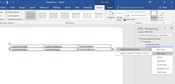 how to create a report in word
