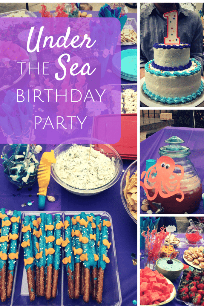 Under The Sea Birthday Party theme for kids or adults - decor and snack ideas!
