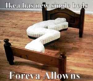 single bed meme