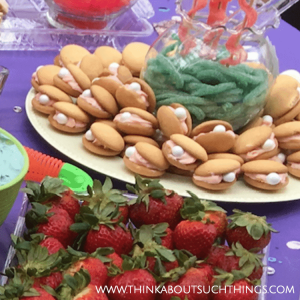 Clam Shell Cookies Under the Sea Party Theme