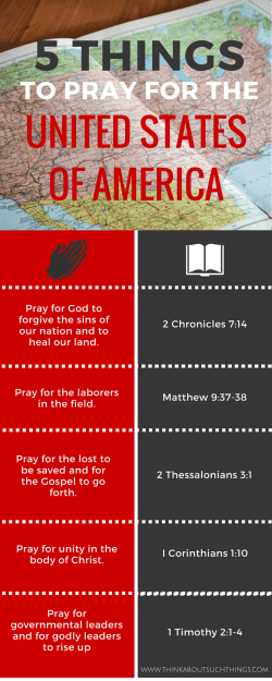 How to pray for America - Infograph