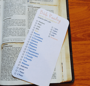 Bible reading check off