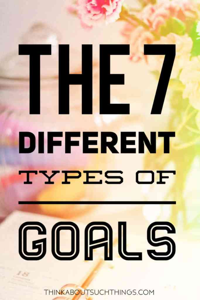 the different types of goals to set for Smart goals.