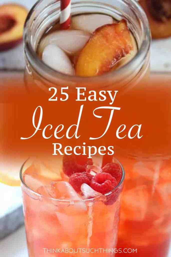 Cool off this summer with these delicious and easy homemade iced tea recipes. Great for a BBQ, picnic or just a relaxing day at home.