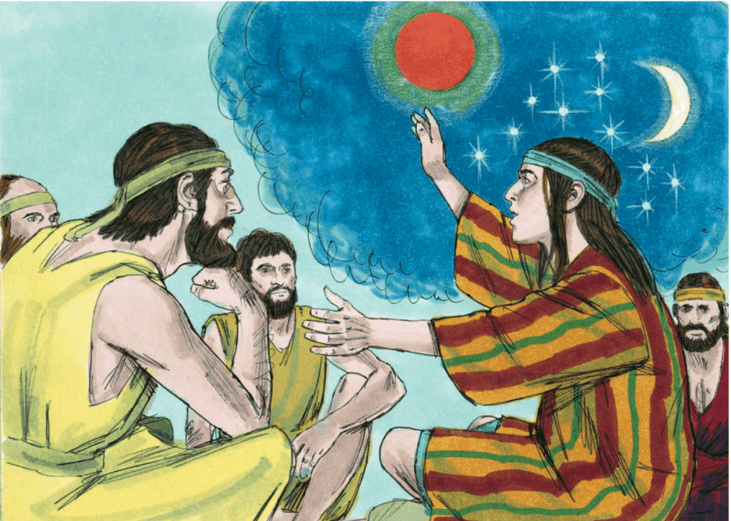 Joseph telling his dream in the Bible - bible verse about dreaming