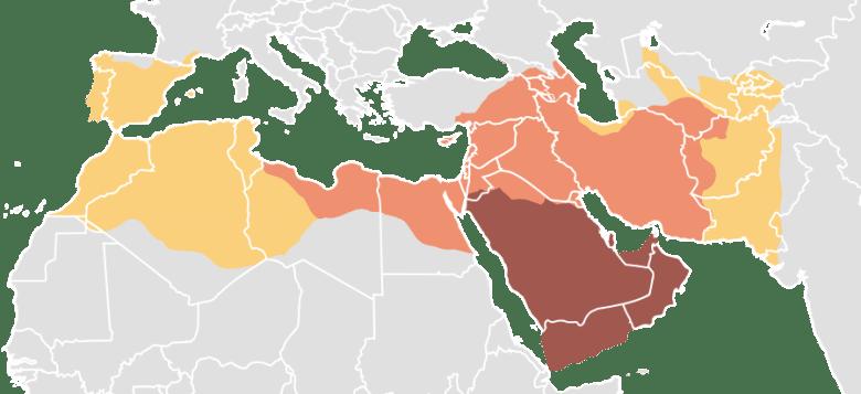 mediterranean_600-1200 BC caliphates