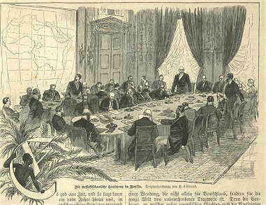 Berlin conference 1884-1885, as illustrated in Die Gartenlaube (Afrikakonferenz)