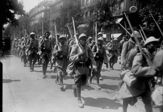 Senegalese Tirailleurs in Paris 1916