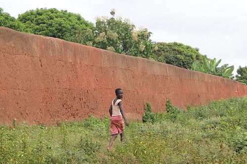 benin - section of wall