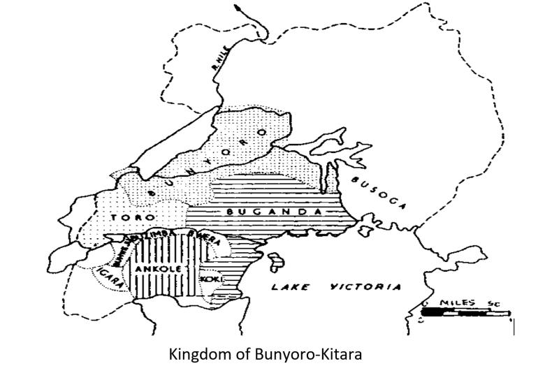 bunyoro - map 18th century