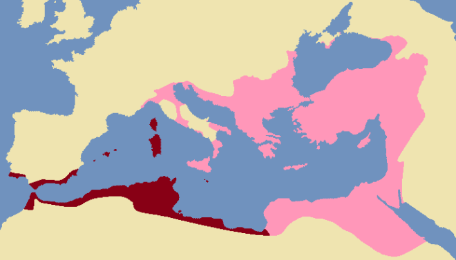 dihya the kahina Exarchate_of_Africa_600_AD
