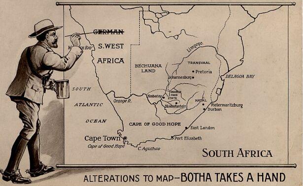 german west africa schutztruppe - louis botha alters the face of africa