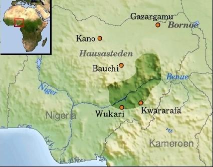 kwararafa map