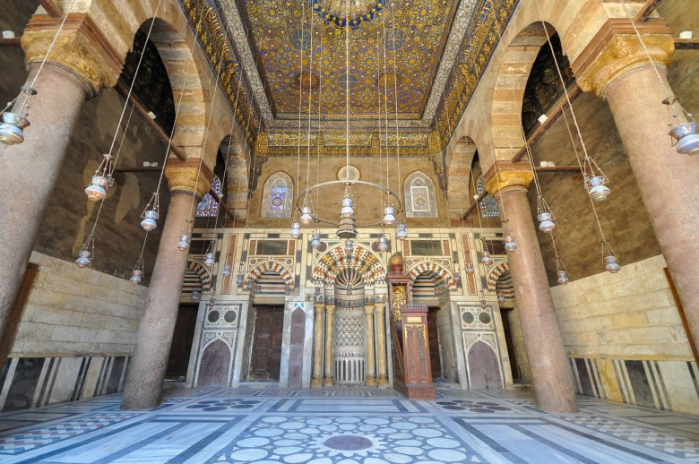 mamluk ceiling of mausoleum