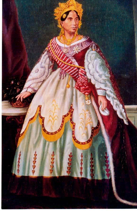 merina - monarch pic 4 (colour) - Rasoherina (b1814, r start 1863 r end 1868)