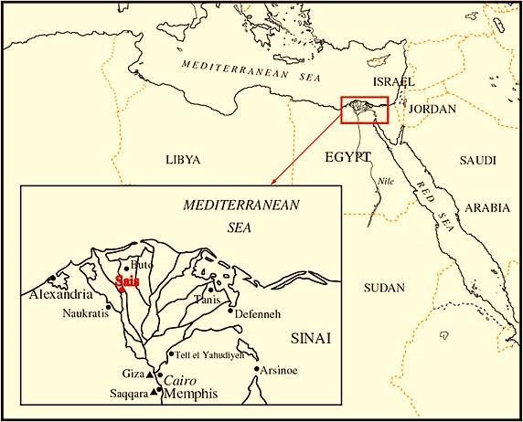temple of sais pic 1 - map