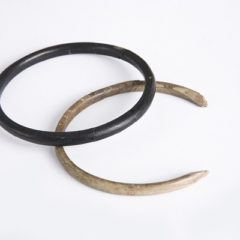 One black and one white bangle