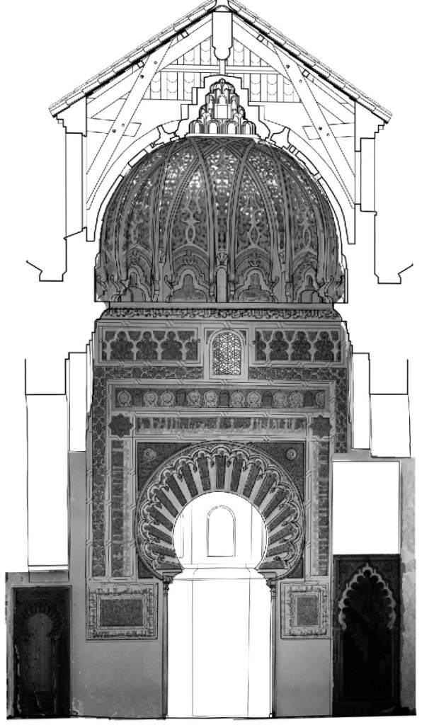 the almoravid dynasty - example of the ribbed dome of the great mosque of tlemcen.