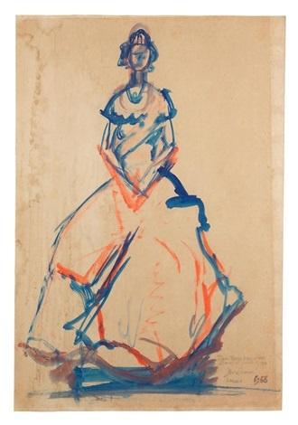 Full Body Sketch of Queen Elizabeth II by Ben Enwonwu on artnet
