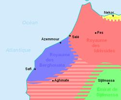 Barghawata Confederacy Map