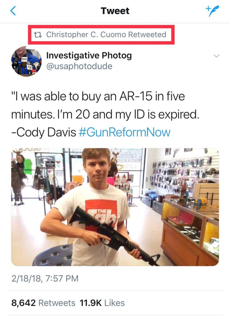 CNN Busted Pushing Fake Story About Boy Buying AR-15 Without ID