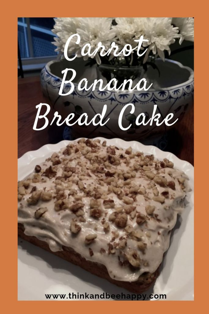 I am all about making non-conventional food, so this carrot banana bread cake is perfect. This recipe is extremely easy. I didn't even have to buy anything extra, we had all these ingredients in the pantry! It's always a plus when you don't have to make a trip to the store. This is the best mash up of banana bread and carrot cake.