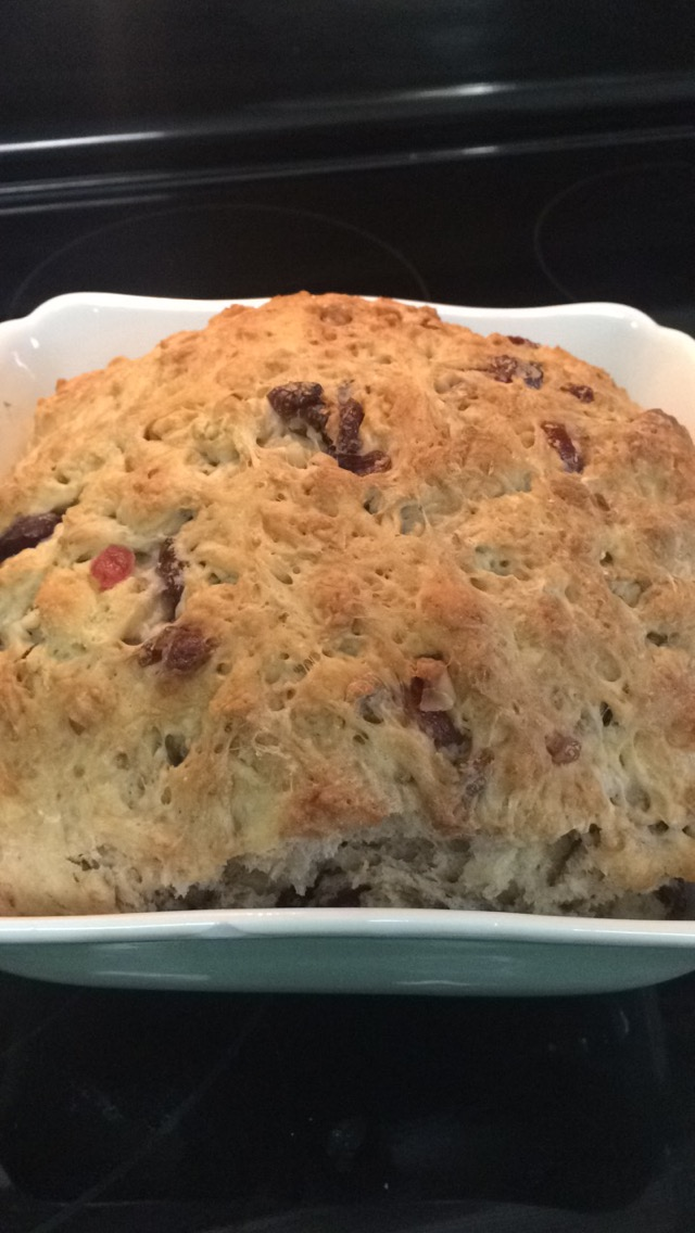 Finished cranberry walnut bread