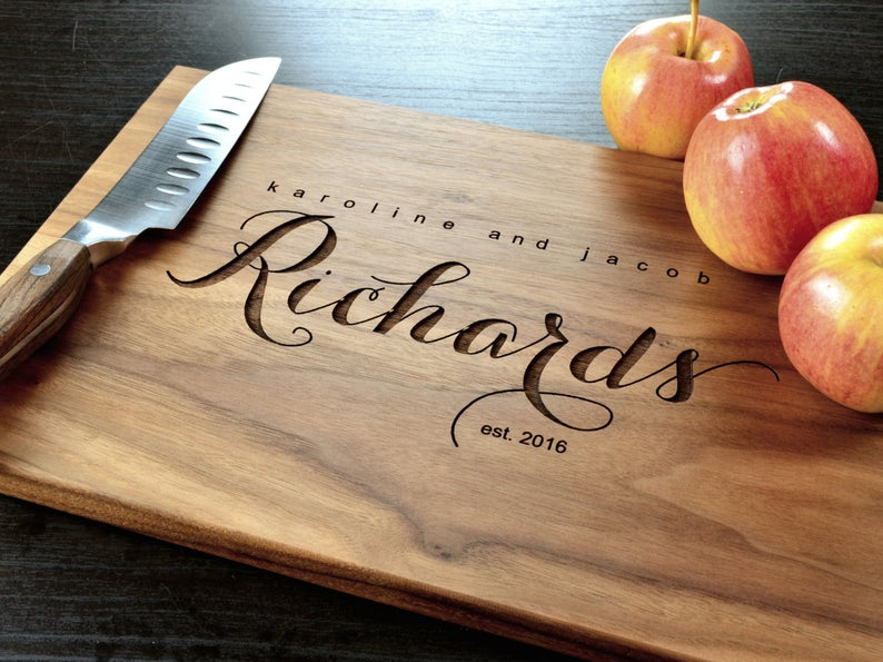 Personalized Cutting Board Custom Cutting Board Personalized image 0
