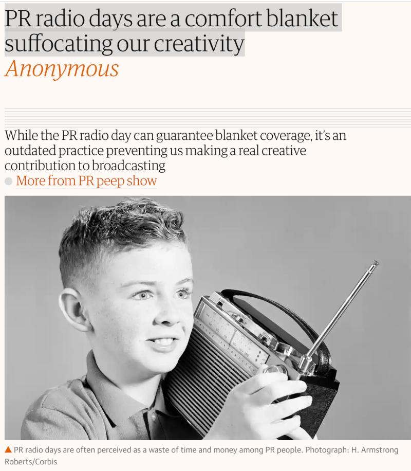 Do radio days really suffocate creativity?