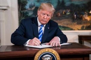 President Donald J. Trump. Iran deal