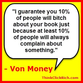 Von Money Quote on Kindle Complaints