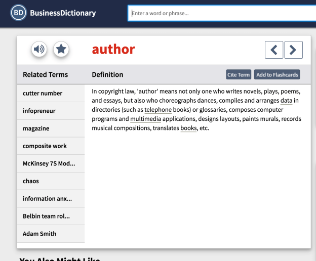 Definition of Author