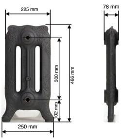 Voltaire 47 (Ύψος: 46.6 cm) BELLE EPOQUE Καλοριφέρ από χυτοσίδηρο