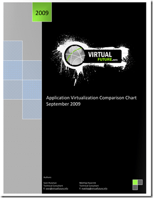 Application Virtualization Comparison Chart