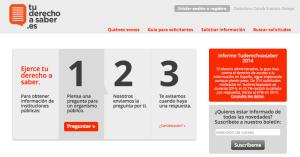 Tu derecho a saber. Fundación Civio. Captura de pantalla