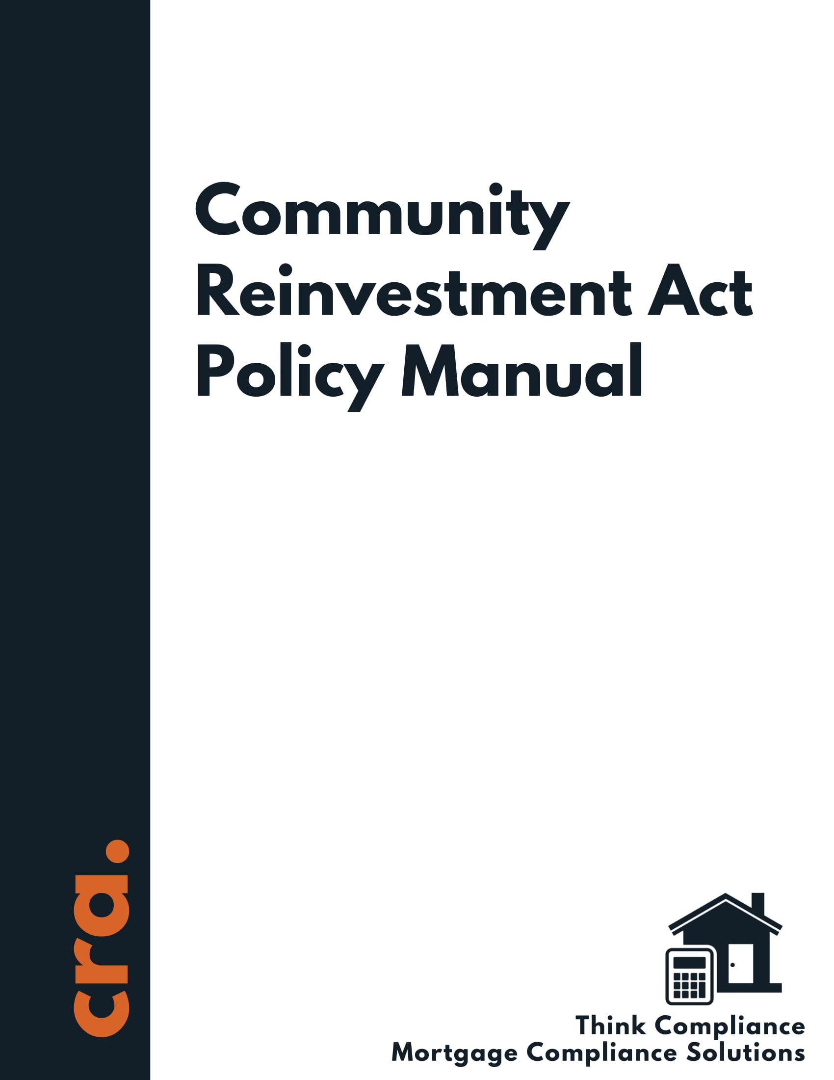 Community Reinvestment Act Policy Manual
