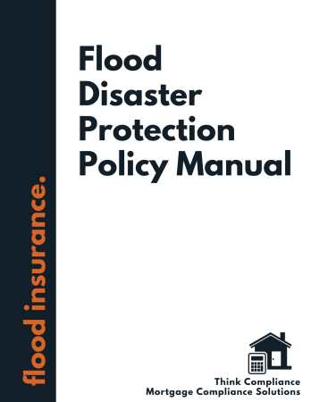 Flood Disaster Protection Policy Manual
