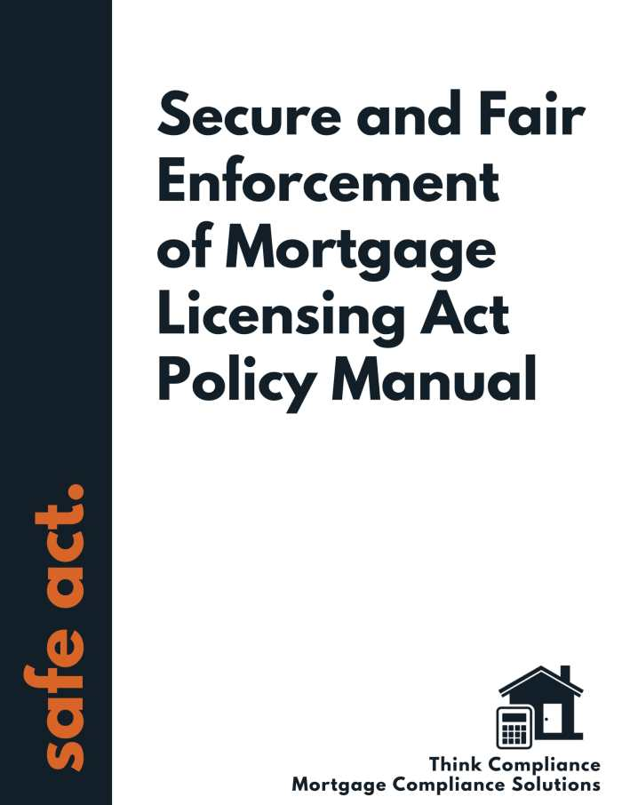SAFE Act Policy Manual