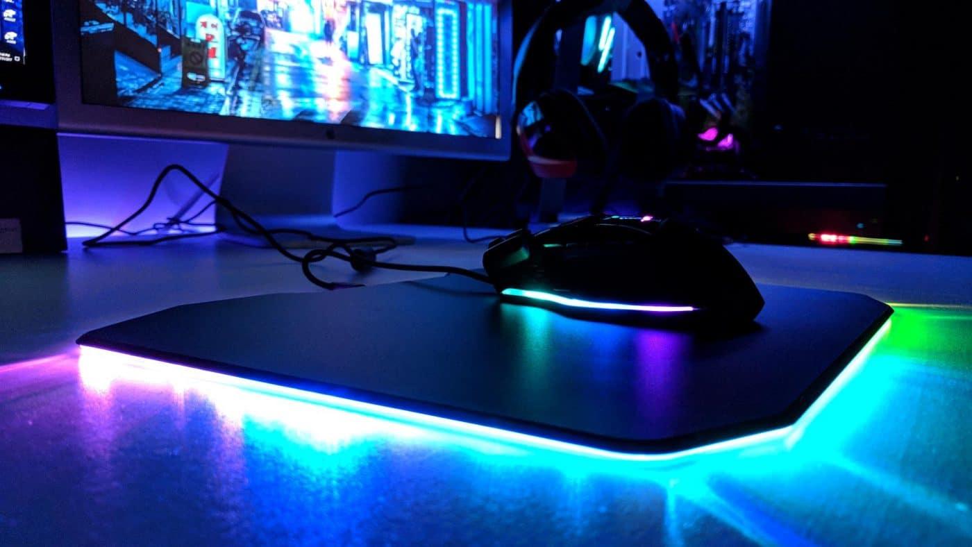 patriot viper gaming led mouse pad review