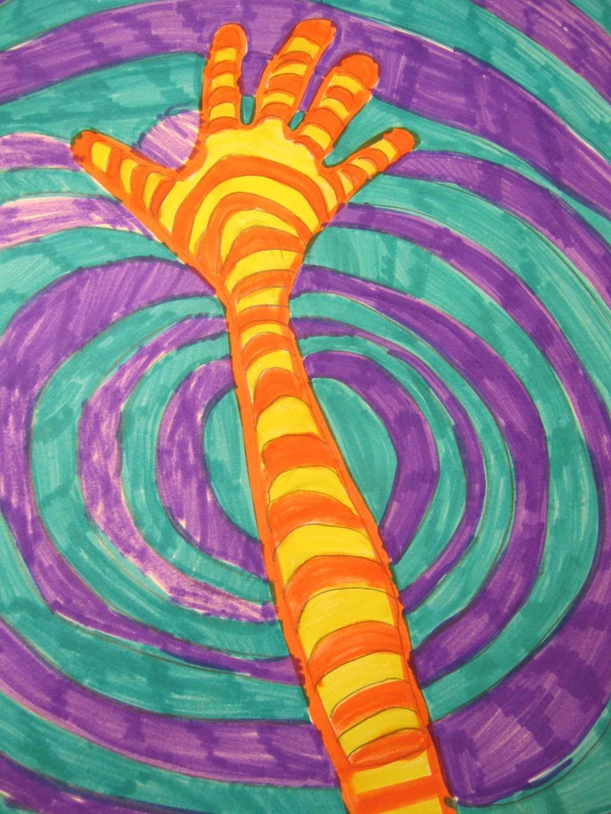 Warm And Cool Color Hands 2nd Grade