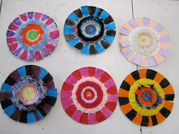 Weaving Paper Plate Project