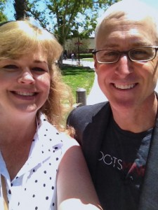 Jim Warner Wallace and I after his first class taught at Biola University, June 2014.