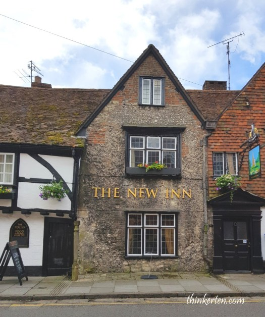 The New Inn in Salisbury Town in England