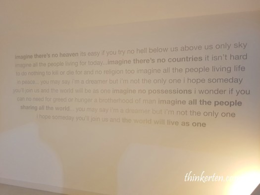 Imagine in Beatles Museum Liverpool